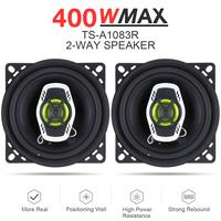 2pcs 4 Inch 10cm 400W 2 Way Car Coaxial Auto Audio Music Stereo Full Range Frequency Hifi Speakers Non destructive Installation