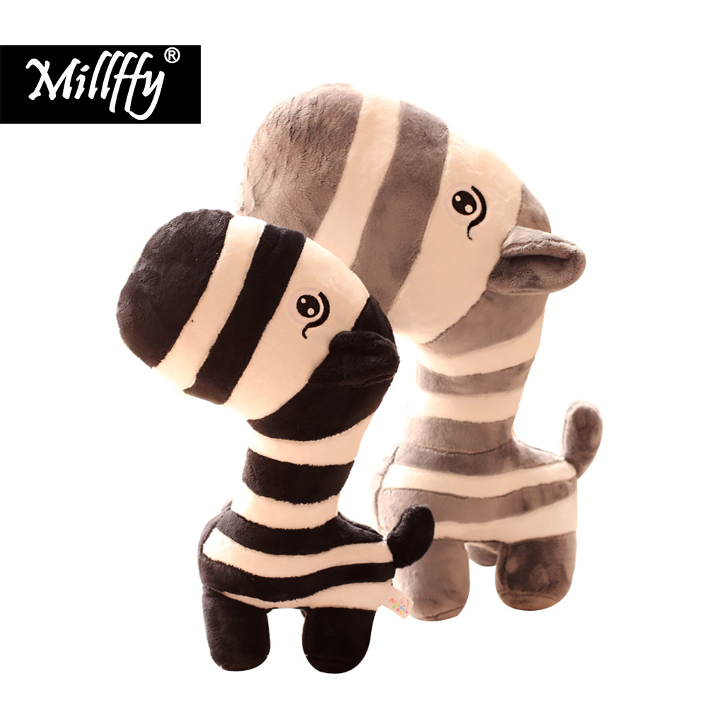 Cute little zebra soft toy doll cartoon forest zebra plush doll childrens day gift
