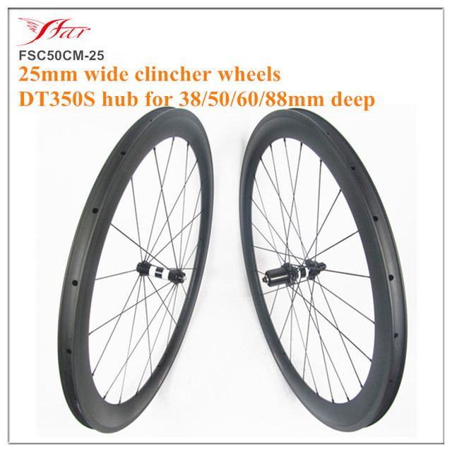 78d7a7e670d DT350S hub + 25mm clincher 20 24H rims. Farsports 38 50 60 88mm deep carbon  wheels hand build wheel for road bicycle wheelset