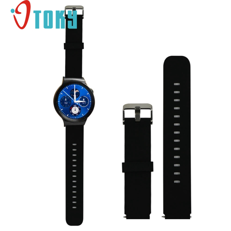 excellent quality new design sport fitness silicone watch band strap with steel buckle for huawei smart watch Excellent Quality New Design Sport Fitness Silicone Watch Band Strap with Steel Buckle for Huawei Smart Watch
