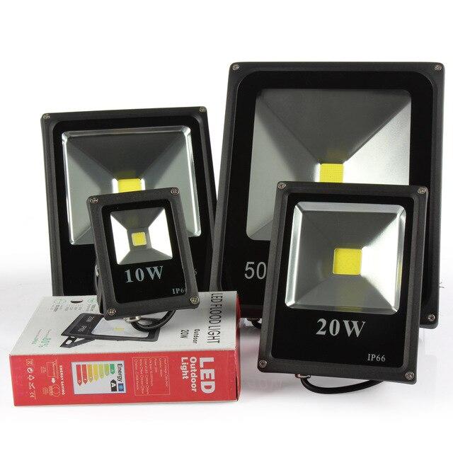 10pcs Refletor Led Floodlight RGB 10W 20W 30W 50W Led Flood light Waterproof Led Spotlight Outdoor