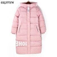 2019 Winter new women cotton coat Women Plus Size 2XL Long section Parka Casual Cotton Padded cotton Coats thick warm cotton coa