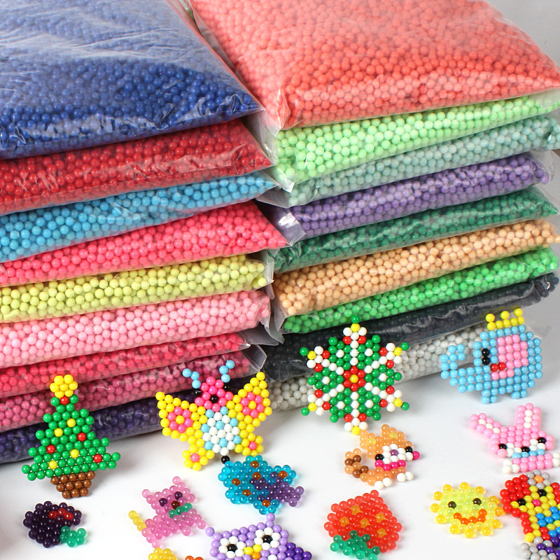 28 Colors Water Spray Beads 3D Puzzle Toys For Children Brinquedos Hama Beads Puzzle Jigsaw Educationa Toy 200pcs/bag Juguete