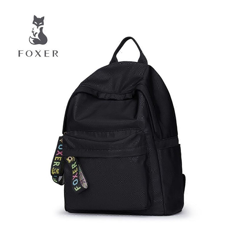 FOXER 2018 new brand women backpack Fashion Nylon material Travel bag student backpack leisure women backpack women bag 2016 new foxer brand women genuine leather backpack fashion quality women cowhide leisure wild student backpack