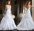 Romantic vaina ata para arriba detrás vestidos novia capilla tren vestidos de novia Vestido de noiva 2015