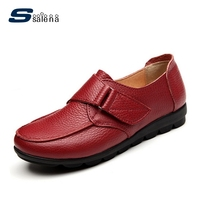 Platform Flats Women Leather Summer Breathable Casual Shoes Women Loafers Size Eu 35 41 AA40041