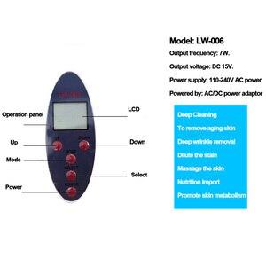 Image 5 - Limpiador cutáneo ultrasónico portátil LCD limpieza Facial eliminación de acné Spa herramienta de belleza limpieza Facial de poros tonificar y levantar LW 006 LW006