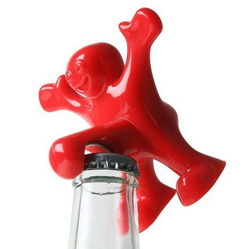 Buy creative bar tools wine opener happy man beer soda novelty bottle opener - Funny wine openers ...