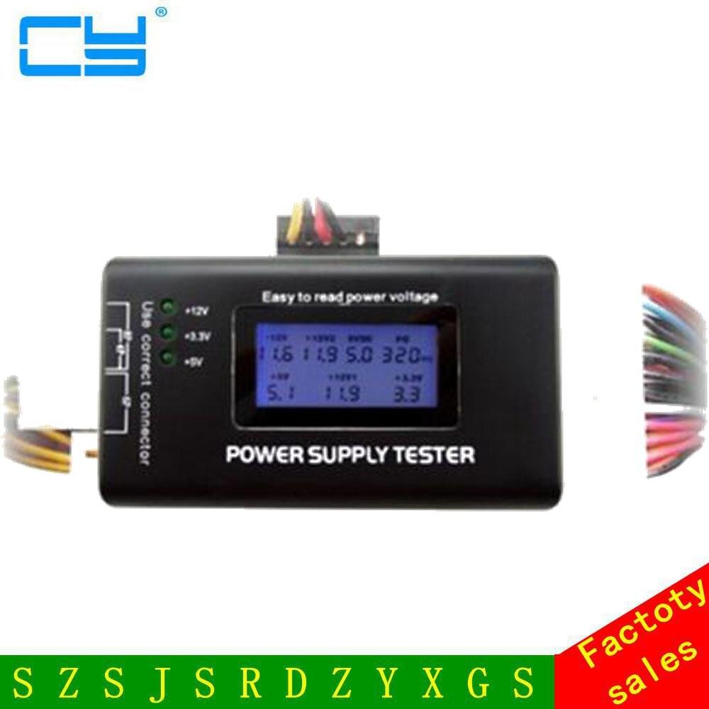 Digital LCD  Computer  Power Supply Tester 20/24 Pin 4 PSU SATA HDD ATX BTX ITX SATA HD Power Supply Tester корпус для hdd orico 9528u3 2 3 5 ii iii hdd hd 20 usb3 0 5