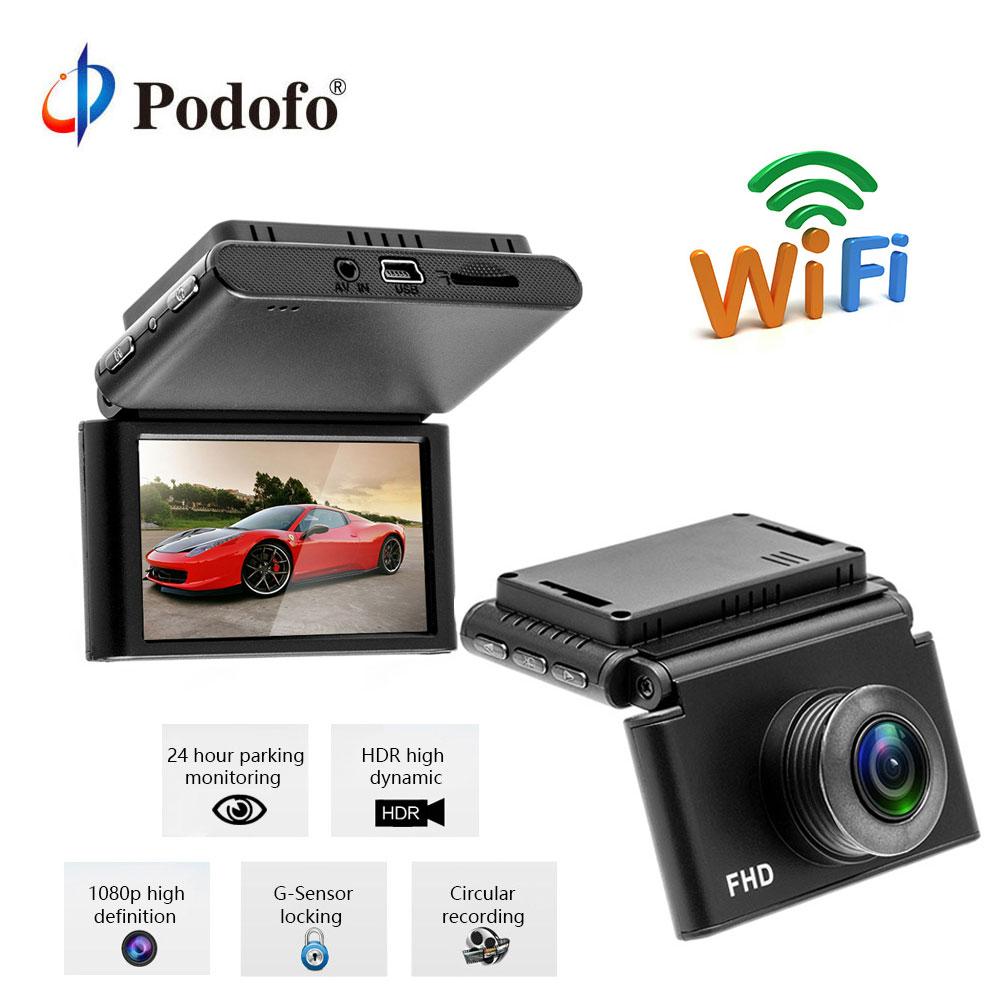 Podofo Mini Car DVR Camera Dashcam FHD 1080P Video Registrator Recorder WIFI G-sensor HDR Dash Cam Cycle Recording Night Vision цена