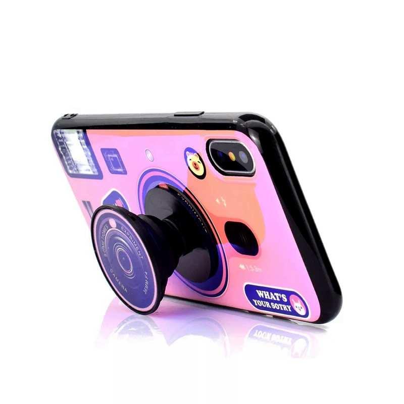 For Xiaomi Redmi Note 5 Retro Camera Phone Case soft TPU Silicone Cute Camera Stand Holder Cover For Redmi Note 5 Pro Case in Fitted Cases from Cellphones Telecommunications