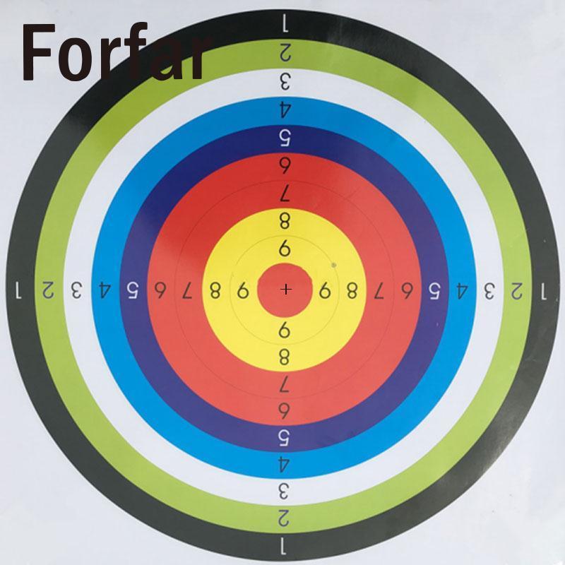 Forfar 10 Pcs Shooting Paper Target Shoot Practice Game Ring Stripes Hunting Tool Airsoft Gun