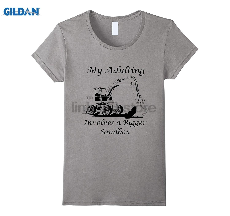 GILDAN My Adulting involves a bigger sandbox t shirt Womens T-shirt