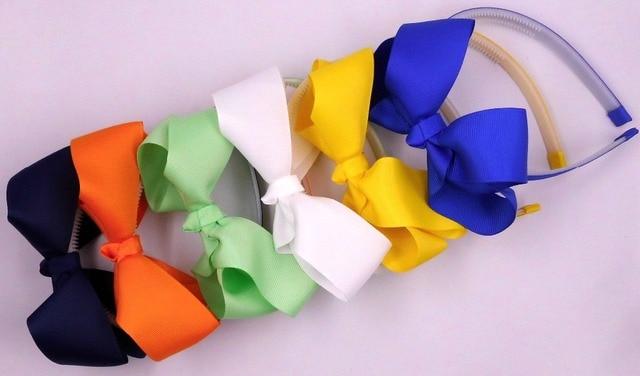 סרט סרט משי עבה מוצק קשת, סרט פלסטיק עם שיניים צבעים אקראיים 15 יחידות