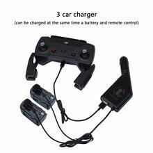 3 в 1 автомобиль Зарядное устройство Батарея зарядки и USB Порты и разъёмы Дистанционное управление 2 зарядный кабель для DJI Spark Интимные аксессуары