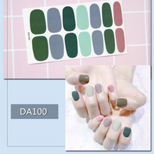 14tips/sheet Beauty Nail Art Stickers Full Cover Wraps Decorations DIY Adhesive Nails Decals
