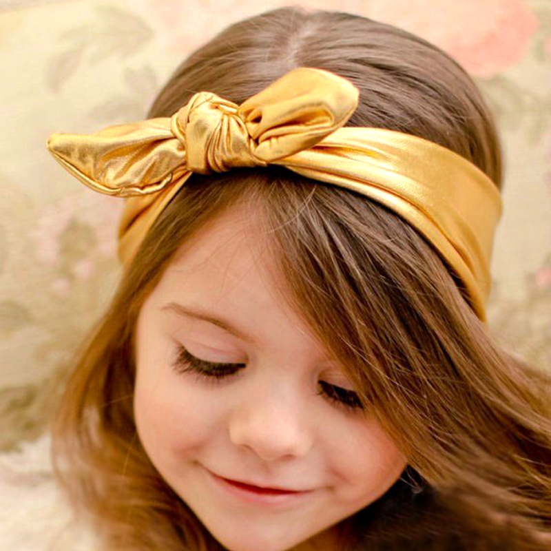 Aliexpress.com : Buy Metal Color Leather Top Knot Headband