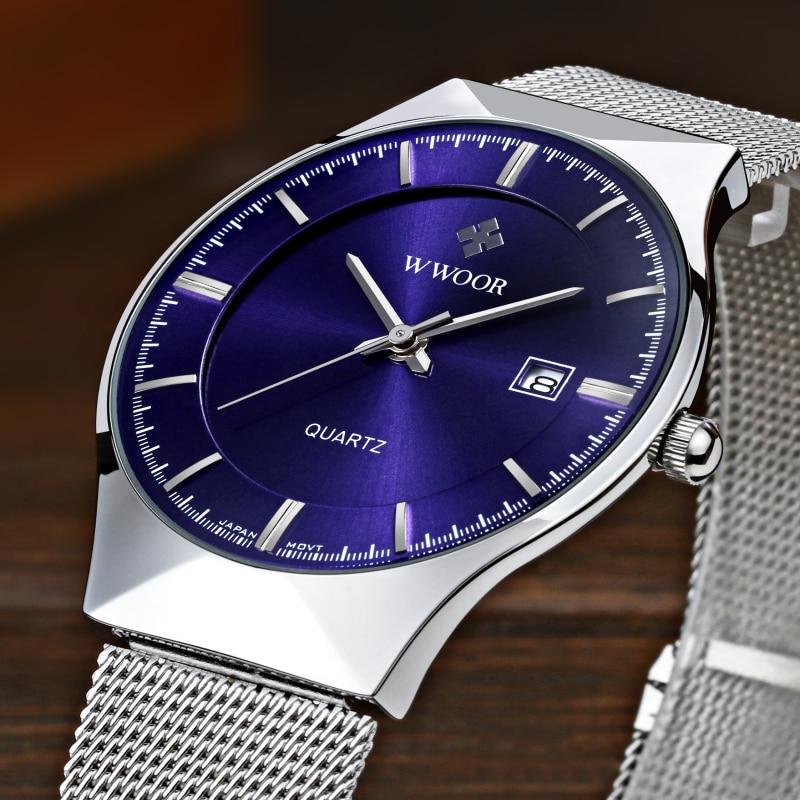Super slim Quartz Casual Armbandsur Business Top Brand WWOOR - Herrklockor - Foto 2