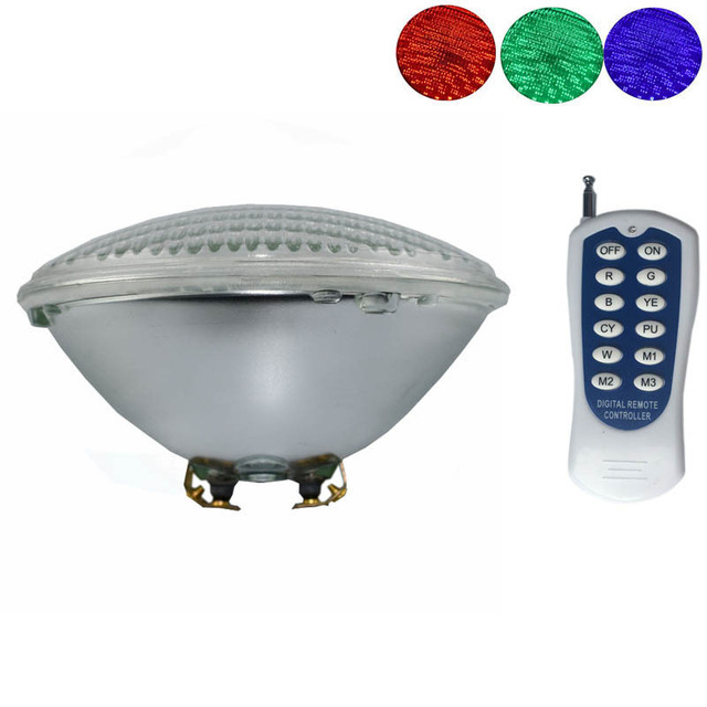 $ 39.77 12V Marine Boat RGB LED Underwater Light with Remote Controller Glass Round Swimming Pool Pond Light IP68 Waterproof Lamp