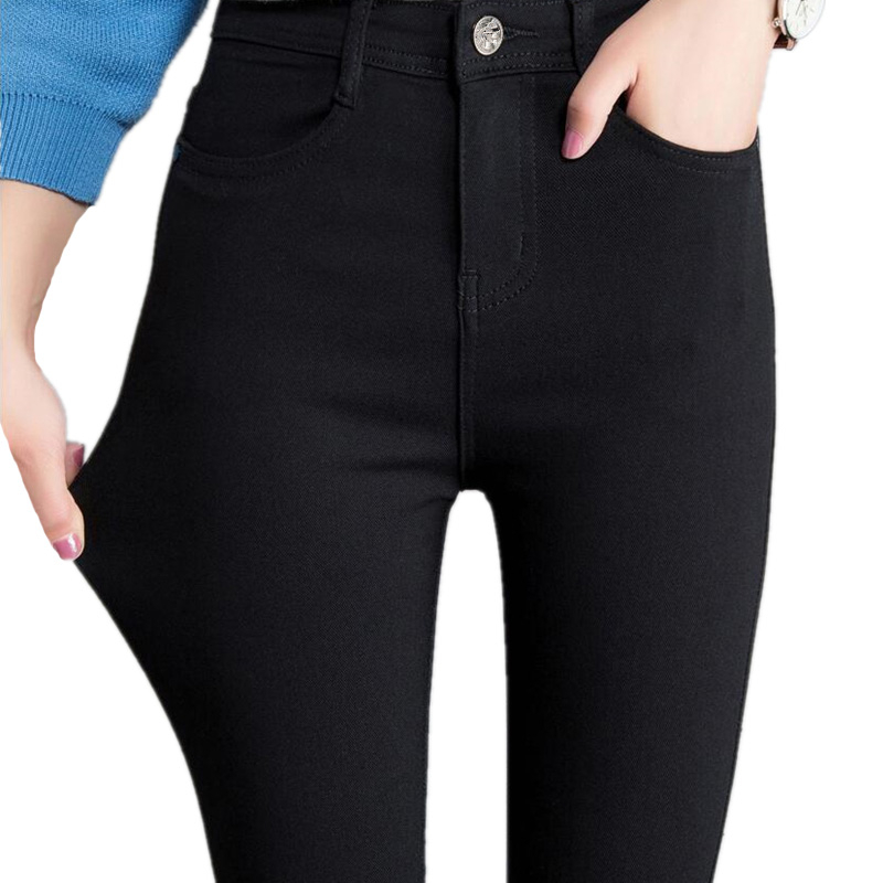 VISNXGI Women Jeans   Leggings   Casual Fashion Skinny Slim Washed Jeggings Thin High Elastic Denim   Legging   Pencil Pants For Women