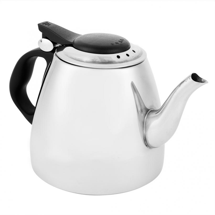 Kettle Boiling-Pot Induction Stovetop Stainless-Steel Vehicle Work-On Flat-Bottom