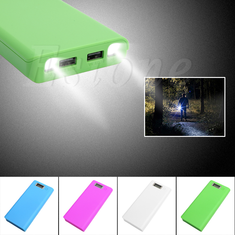 USB Mobile Power Bank Charger DIY Pack 8pcs 18650 Battery Case Holder for Phone
