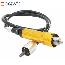 GOXAWEE 6mm Flexible Flex Shaft +0-6.5mm Handpiece For Dremel Style Electric Drill Rotary Tool Accessories Rotary Grinder Tool