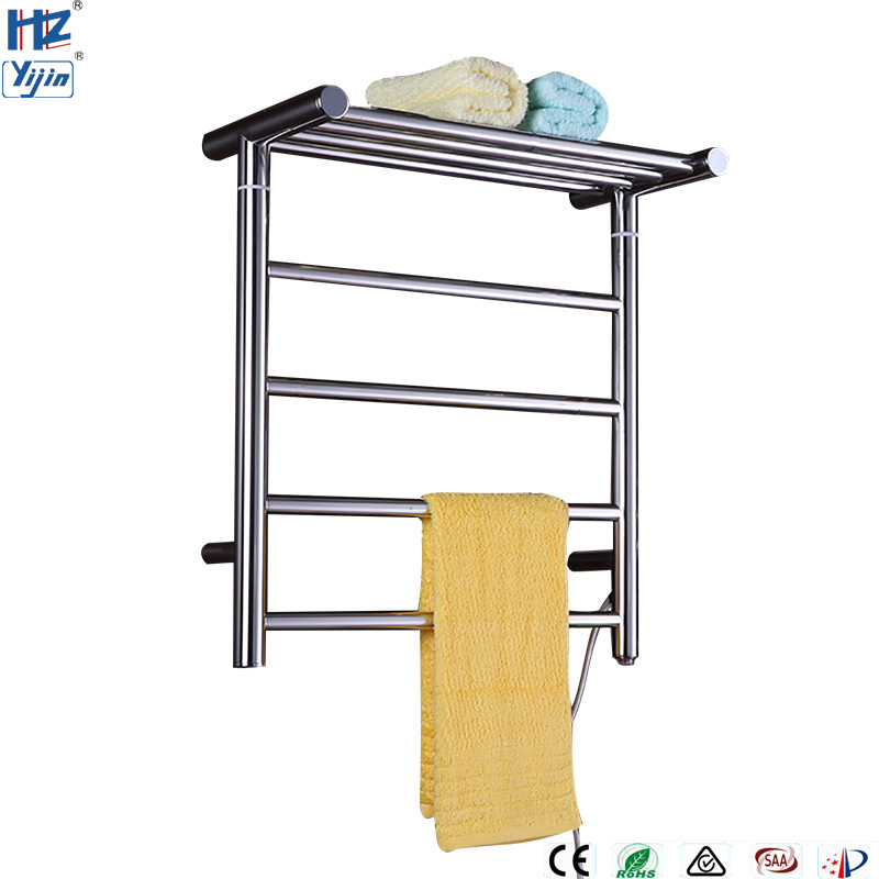 TW-RD15 Stainless Steel Electronic Towel Dryer Rail Wall Mount Towel Warmer Rack Bathroom Holder Shelf