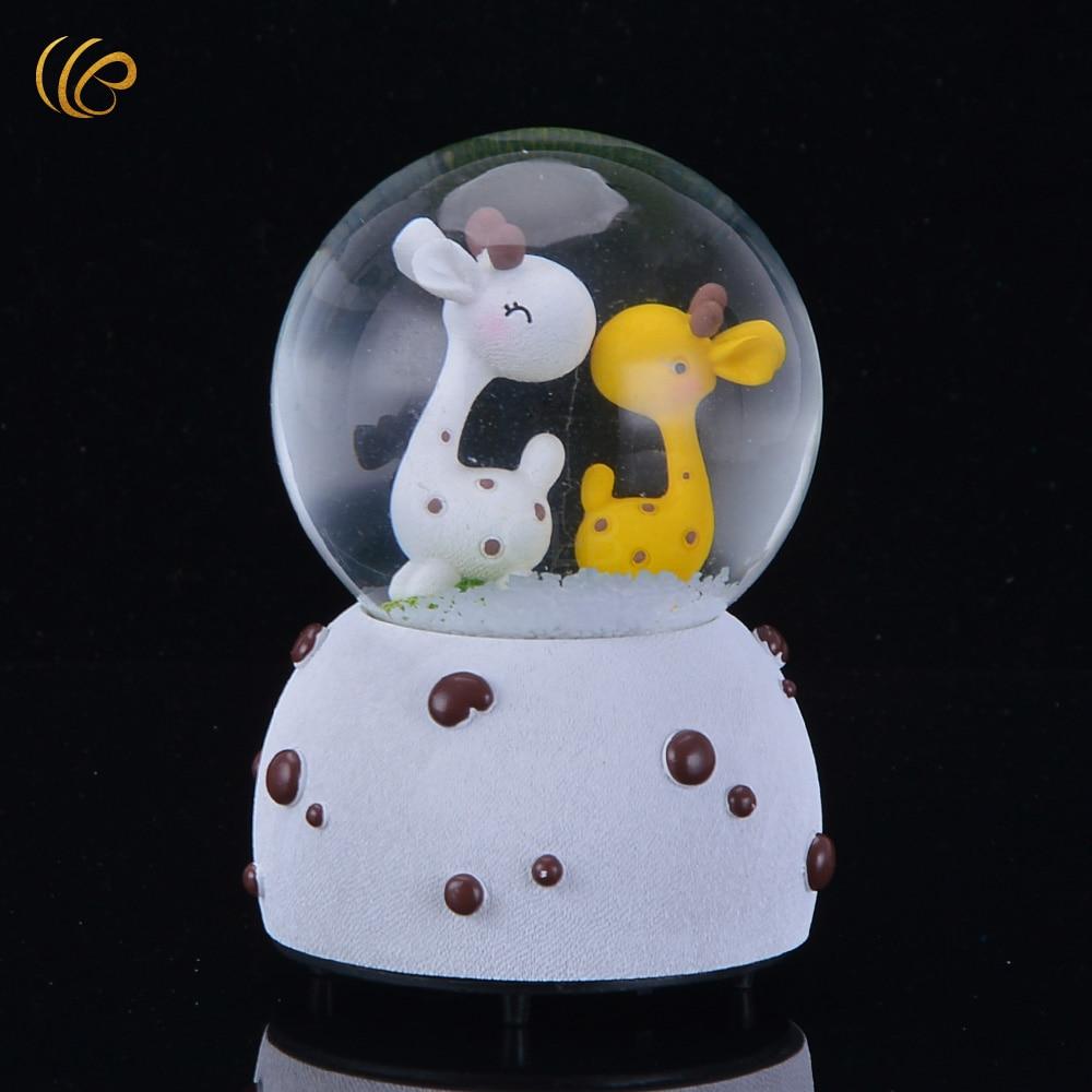 Scrapbook ideas china - Wr Birthday Gift Ideas Music Box Creative Cute Animal Inside Desk Decoration Crystal Ball Home Decoration Art Crafts 12 5x7cm