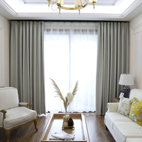 Modern design 85% shading blackout curtain for living room or bedroom window