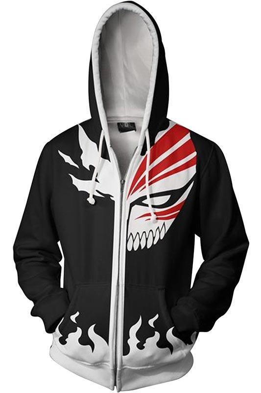 Anime Bleach Hoodie 3D Printed Zipper Up Hooded Adult Men Women Casual Sweatshirts Jacket
