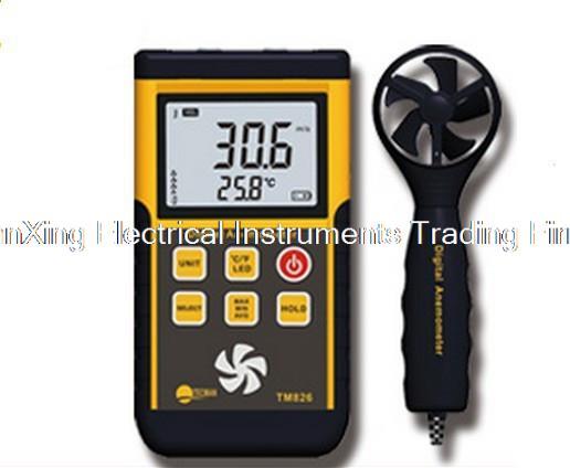 ФОТО TM826 Digital Anemometer Sensor Air Wind Measure Speed Gauge Meters Velocity Meter 0.3~45m/s