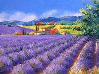 Needlework Romantic Lavender Pastoral Scenery For Embroidery DIY DMC Cross Stitch Kits Art Pattern Counted Cross