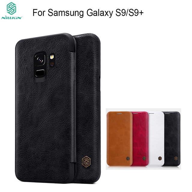 best service 07f75 d5e19 US $9.59 37% OFF|Aliexpress.com : Buy For Samsung Galaxy S9 case Nillkin  vintage Qin wallet case PU leather hard plastic back cover for Galaxy S9+  ...