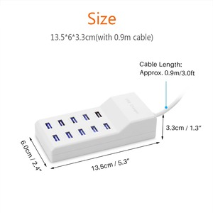 Image 5 - Powstro 10 USB Charger Station Splitter 60W Mobile Phone Charger HUB Smart IC Charge Universal for iPhone Samsung Mp3 Tablet Etc
