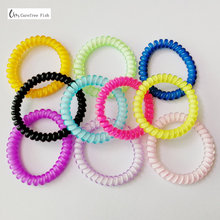 цена на free shiping 5 pcs Silicone elastic hair bands accessories for women spiral scrunchy telephone wire springs and gum bandeau
