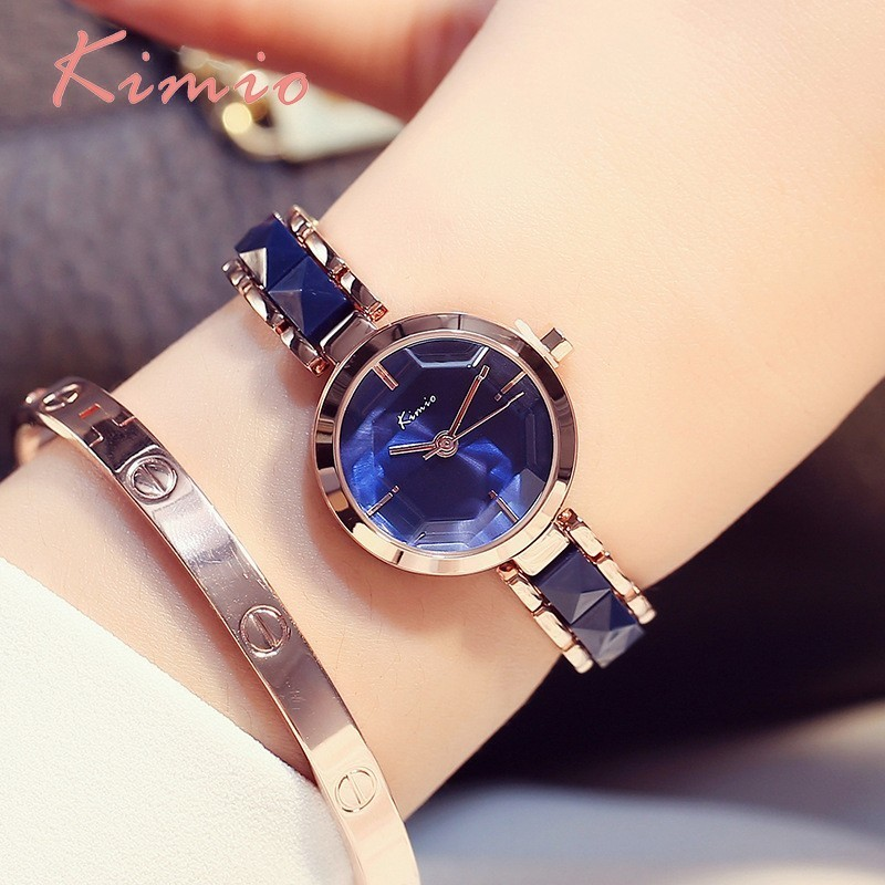 KIMIO Rose Gold Watches Women Fashion Watch 2017 Luxury Brand Quartz Wristwatch Ladies Bracelet Women's Watches For Women Clock kimio brand diamond rhinestone rose gold bracelet women watches fashion woman watch luxury quartz watch ladies wristwatch clock