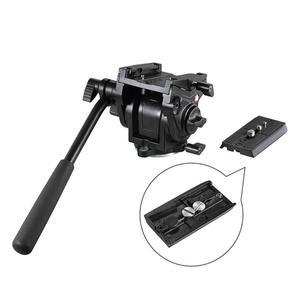 Image 2 - Kingjoy Cabezal de trípode panorámico VT 3510, cabezal de vídeo fluido hidráulico para trípode, monopié, soporte de cámara, soporte móvil SLR DSLR