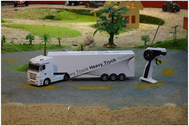 Detachable Remote Control Big Size 1:32 RC 6CH container heavy truck with lights and sounds free shipping Car