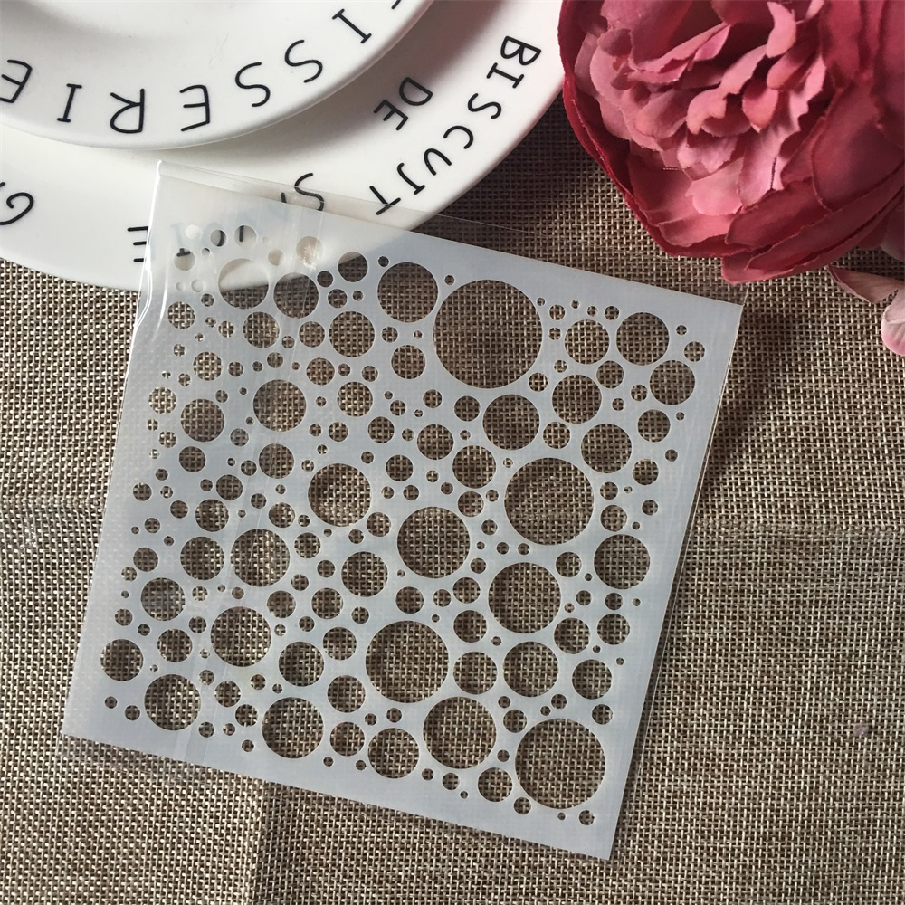1Pcs 13cm Bubble Dot Circle DIY Craft Layering Stencils Painting Scrapbooking Stamping Embossing Album Paper Card Template