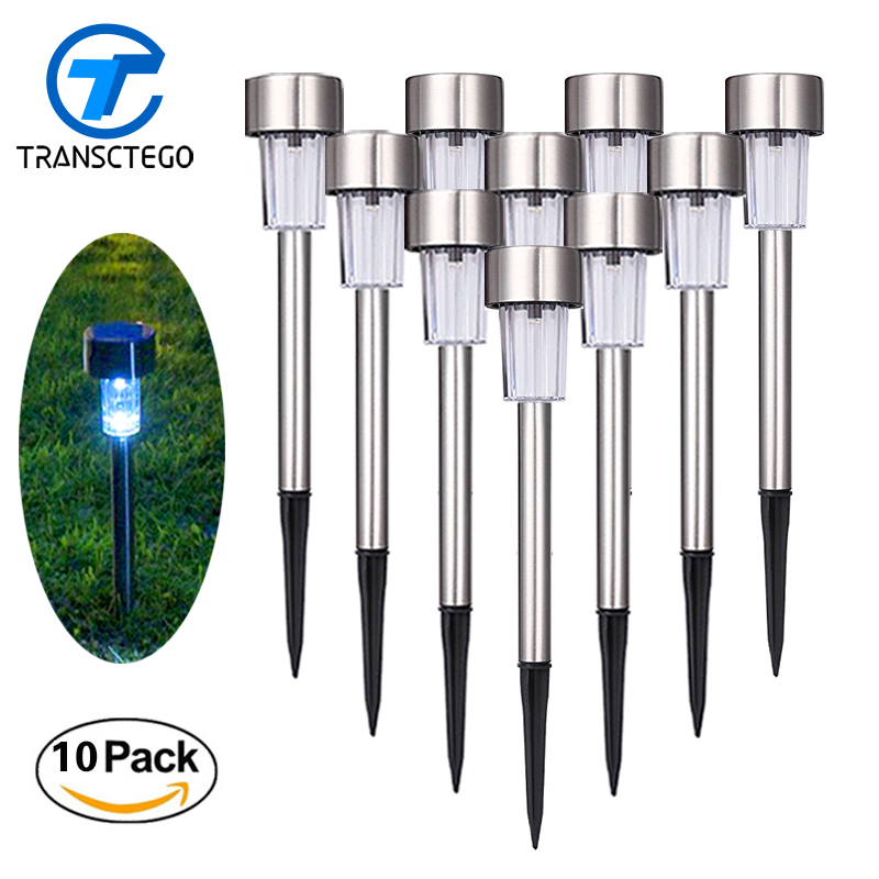 10 PCS Led Solar Light Outdoor Lawn Lamp Solar Energy System Powered Path Lights Street Lighting Luminaria For Garden Decoration luminaria luz led solar garden light lamp with 40 lights solar powered led wall light outdoor lighting free shipping