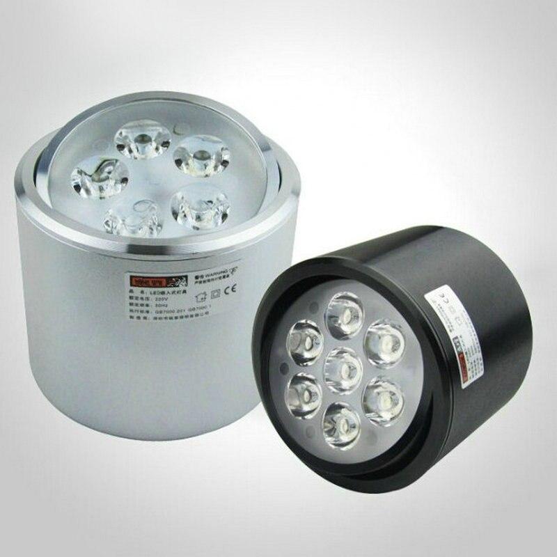 Новые 5 Вт 7 Вт COB чип светильник Встраиваемый светодиодный потолочный пятно света лампы белый/теплый белый светодиодные лампы Epistar