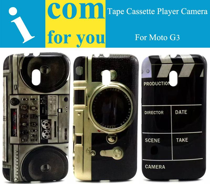 super popular 66706 dad09 US $5.0 |Retro Tape Cassette Player Camera Soft Protector case cover for  Motorola Moto G3 Skin shell capa for Moto G 3rd gen Gen 3-in Half-wrapped  ...