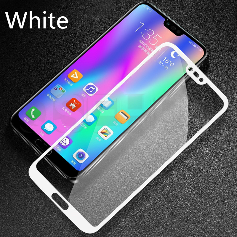 Image 2 - 3D Full Cover Tempered Glass For Huawei P20 Lite Pro Screen Protector cover for Honor 10 9 8 Lite 8X 8C 8A Glass Protective Film-in Phone Screen Protectors from Cellphones & Telecommunications