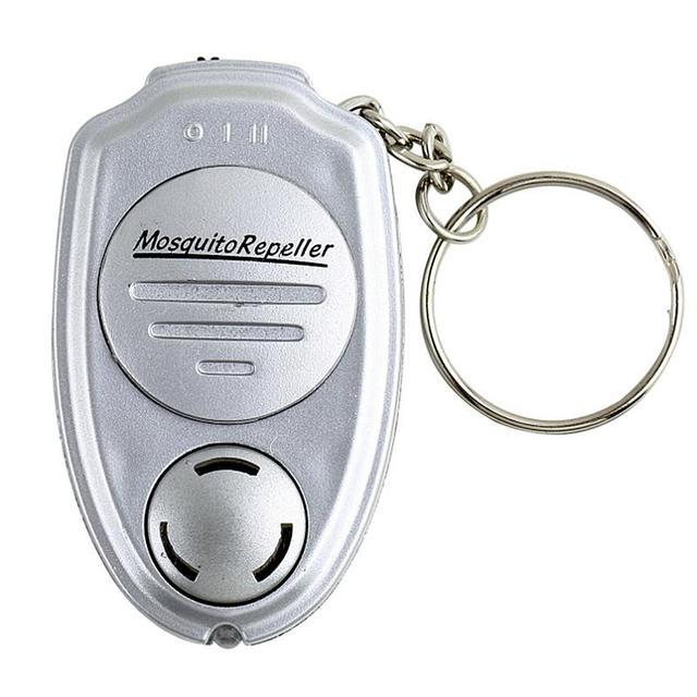 2019 New Ultrasonic Mosquito Repellent Keychain Mosquito Killer Electronic Mosquito Repellent Silver Mini Mosquito Repellent