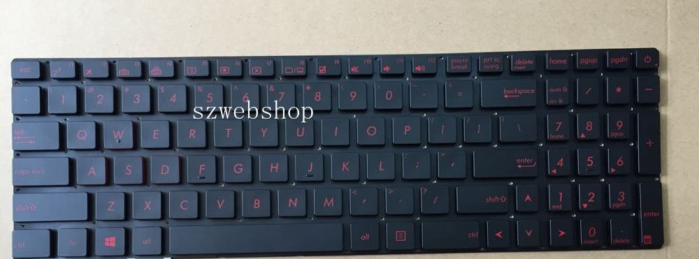 New laptop English US keyboard for ASUS G58 G58JM G58JW G58JW4200 red key backlit black