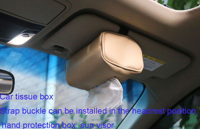 Headrest Strap Holder For Kleenex Facial Tissues And Other Napkin Paper Boxs Mobile Phone Accessories Humorous Tfy Car Visor