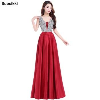 e38a97d2d11 Product Offer. Suosikki Очаровательная v-образным вырезом бусинами лиф с  открытой спиной линии длинное вечернее платье вечерние ...