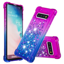 Luxury Glitter Case For Samsung Galaxy A10 M10 M20 S10E S10 S9 S8 j3 j7 A7 A9 j4 j6 Plus 2018 Liquid Quicksand Bling Cover D03Z
