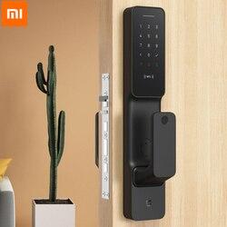 Xiaomi Mijia Push-Pull Inteligentny zamek do drzwi inteligentne połączenie Bluetooth odblokować inteligentny zamek centralny zamek z linii papilarnych hasło App sterowania 1